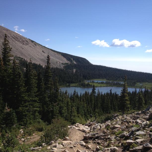 Rocky Climb Up from Mitchell Lake