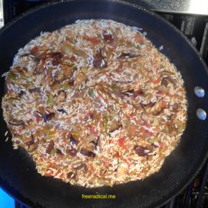 Vegan Jambalaya Add Rice
