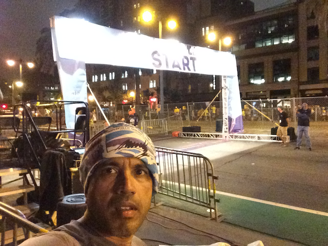 Mandatory selfie at the start